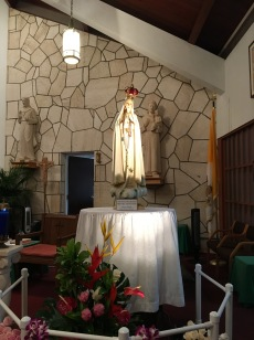 Our Lady at the St. George Church sanctuary, Feb. 2.
